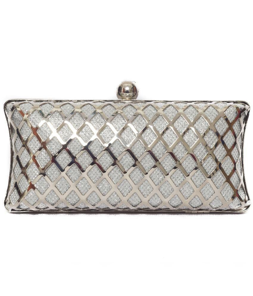 DESIGNISH Silver Others Clutch