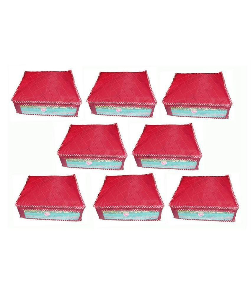 Ombags&more Maroon Saree Cover - Set of 8