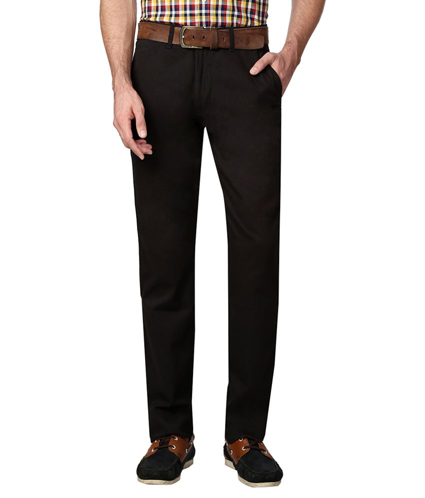 Van Heusen Black Slim Fit Trousers