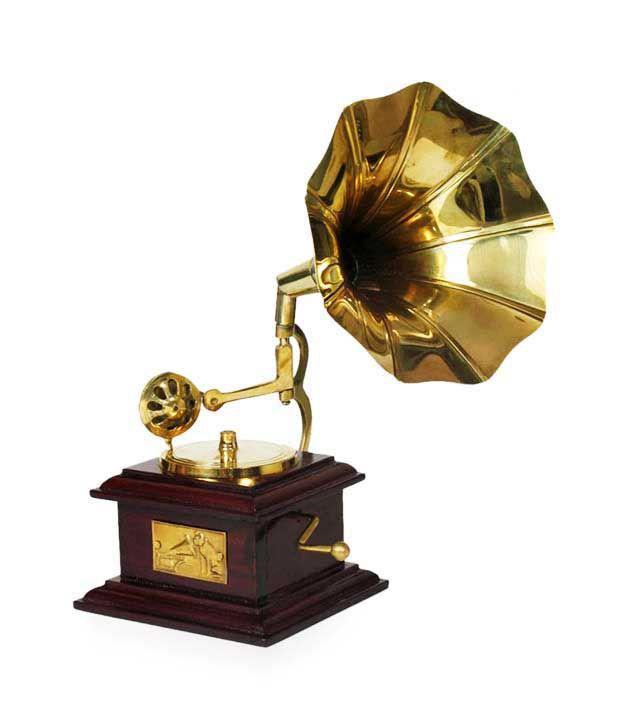 Zitter Brown Wooden Gramophone