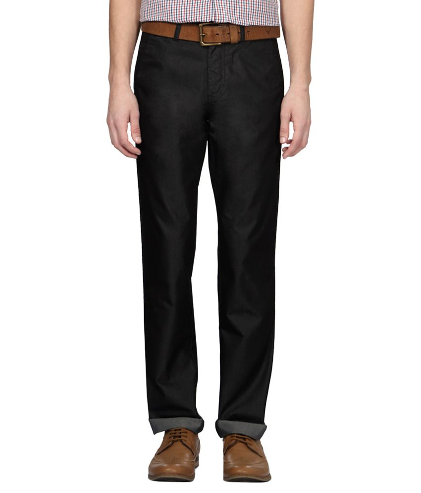 Allen Solly Grey Regular Fit Casual Trousers