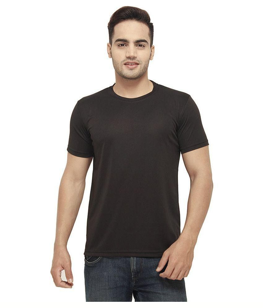 Amla Black Cotton T-Shirt