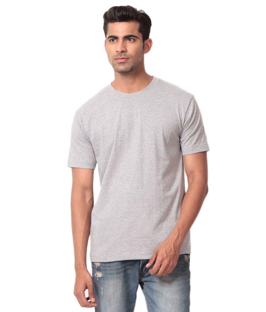 Aradhana Grey Cotton Blend T-shirt