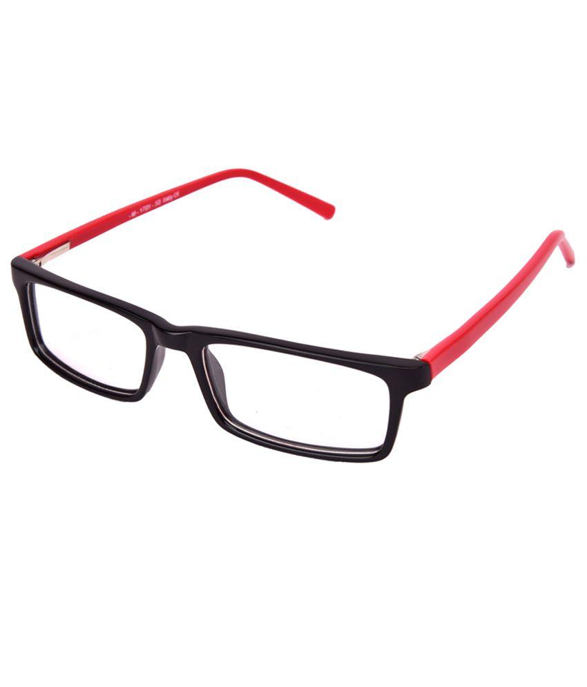 612ef9b75b4 ECZ Black Full Rim Rectangle Frames Eyeglasses For Women - Buy ECZ Black Full  Rim Rectangle Frames Eyeglasses For Women Online at Low Price - Snapdeal