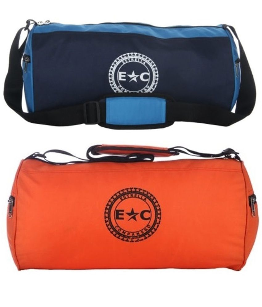 Estrella Companero Blue & Orange - Medium (set Of 2)  Gym Bag Combo