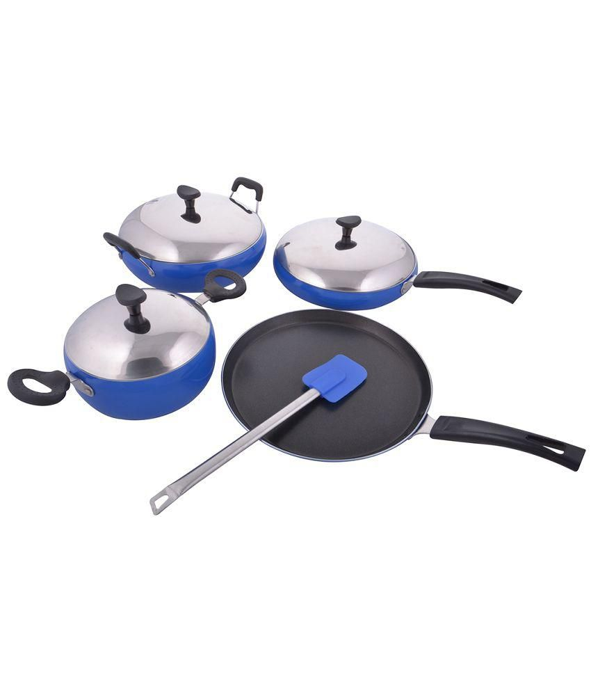 Kitchen Queen Blue 8 Piece Apple Shaped Non-stick Cookware: Buy ...