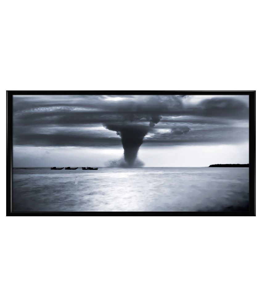 Thefrozenmoment Small Wooden Thunder Nights Art Print