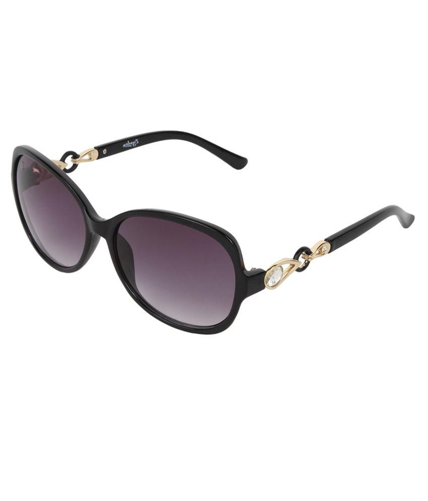 Zyaden Purple Medium Women Oversized Sunglasses