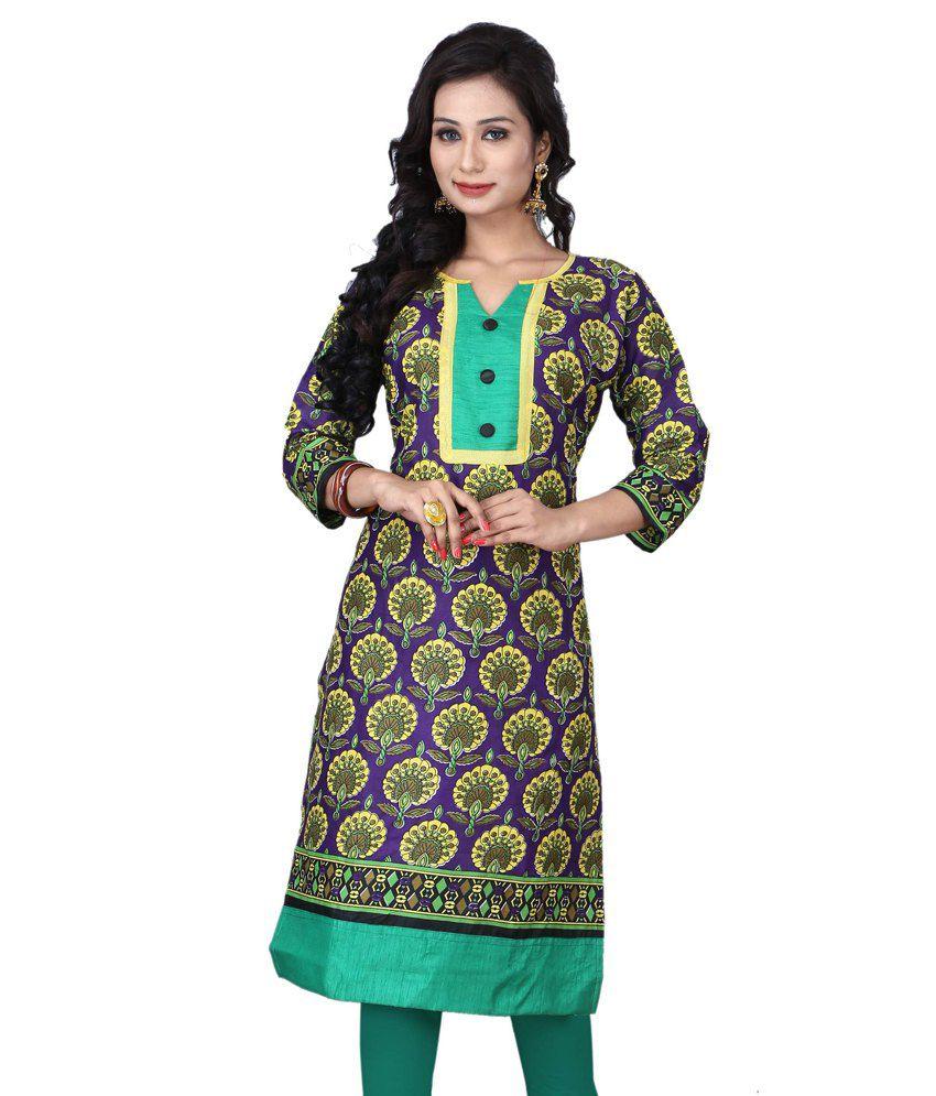 Khushi Fashion Multi Color Cotton Kurti