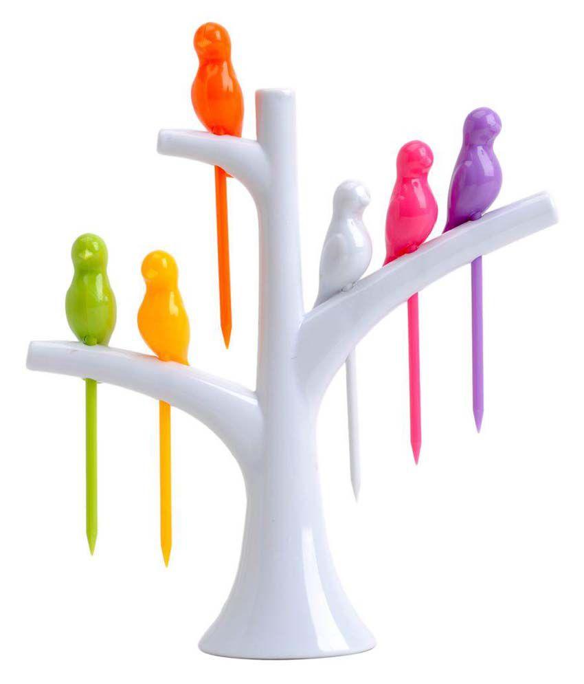 Birdie Plastic Fruit Fork Set: Buy Online at Best Price in ...
