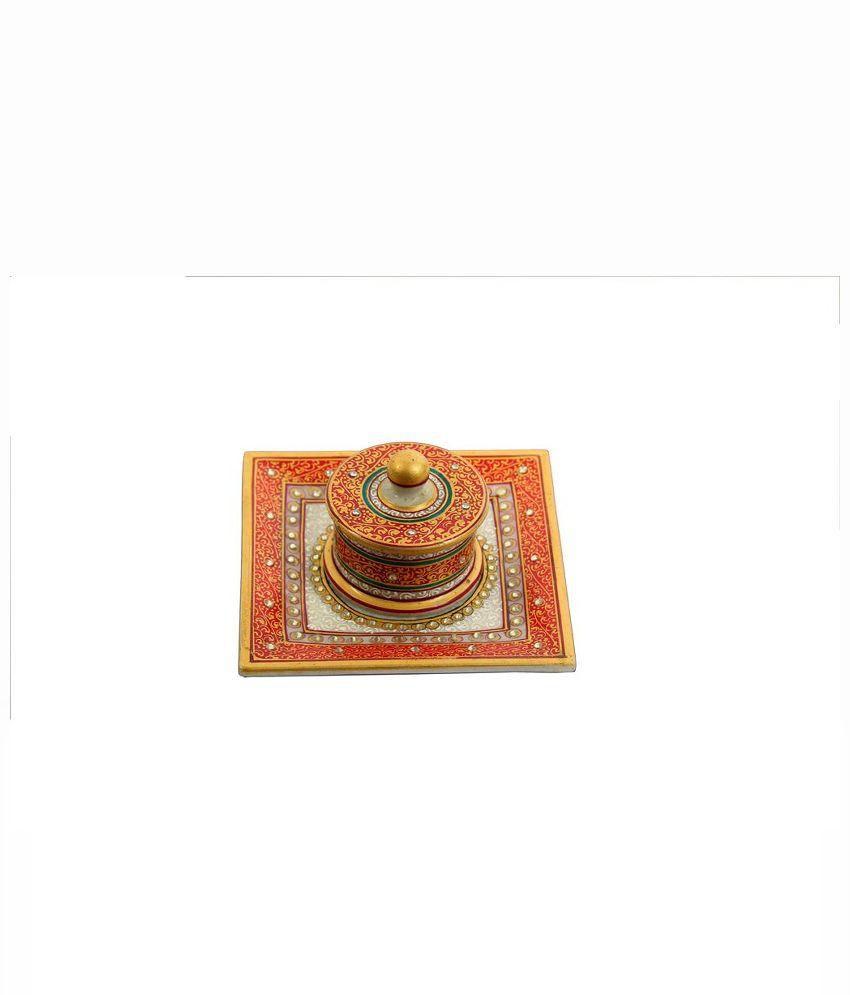 Hgiri Handicraft Marble Kum-Kum Box