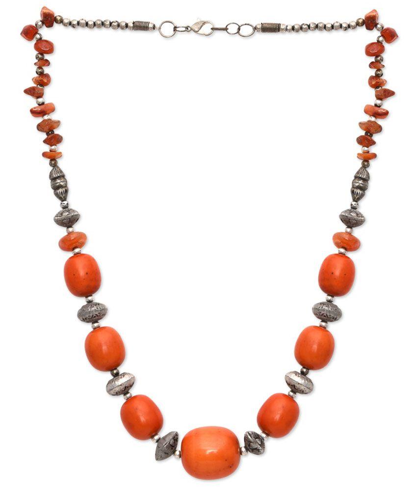 Jewel Paradise Antique Orange Brass Necklace