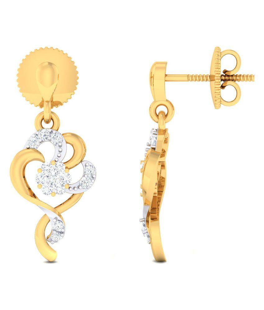 Amazing Jewels 18kt Gold Studs Earrings