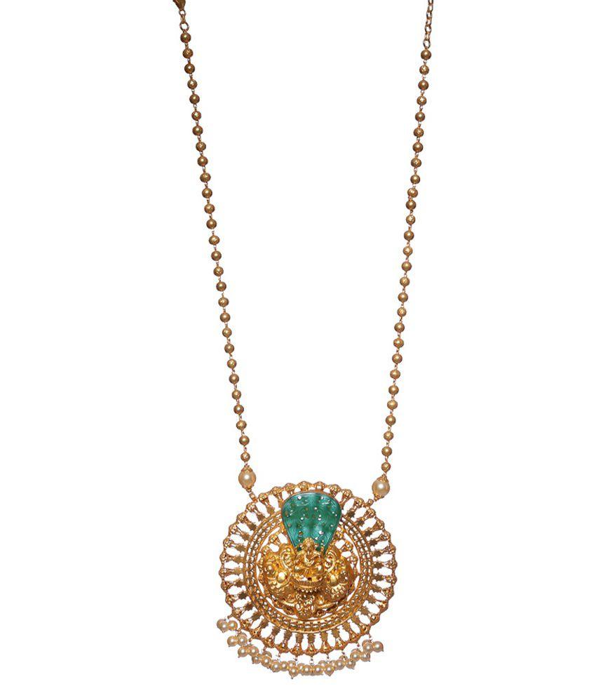 Avanishk Jewels 92.5 Sterling Silver Pendant Necklace