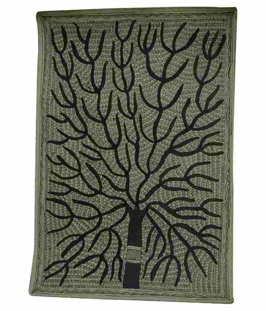 Craftuno Glossy Tree Of Life Folk Art Painting