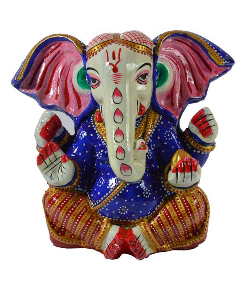 Craftuno Hand Painted Resin Ganesha