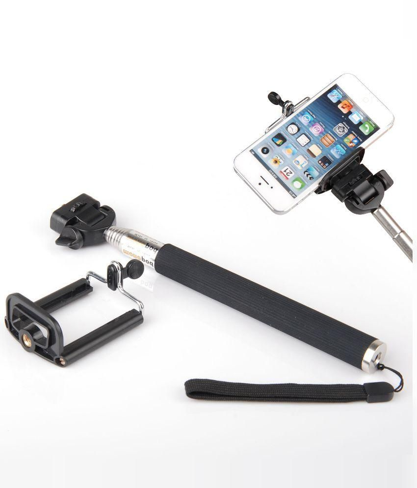 Star Enterprise Star Enterprise Black Selfie Stick With Bluetooth Features