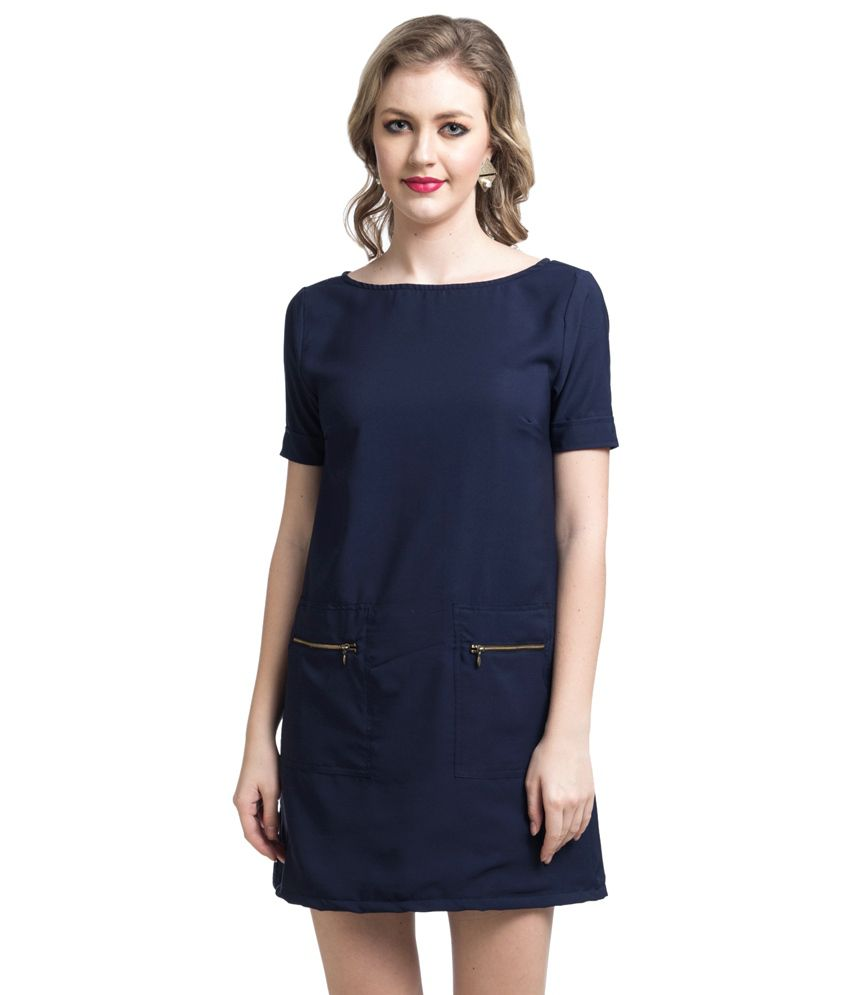 Uptownie Lite Blue Polyester Dresses