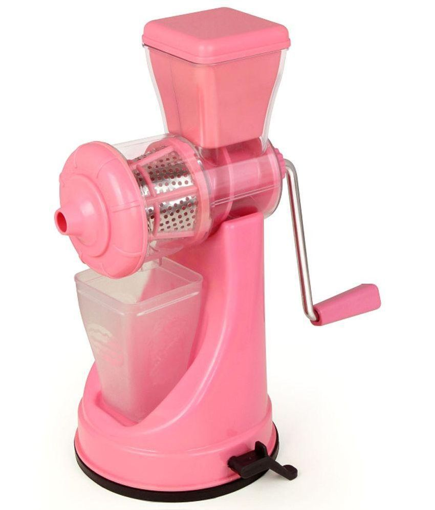 Class Fruit And Vegetable Pink Juicer Steel Handle