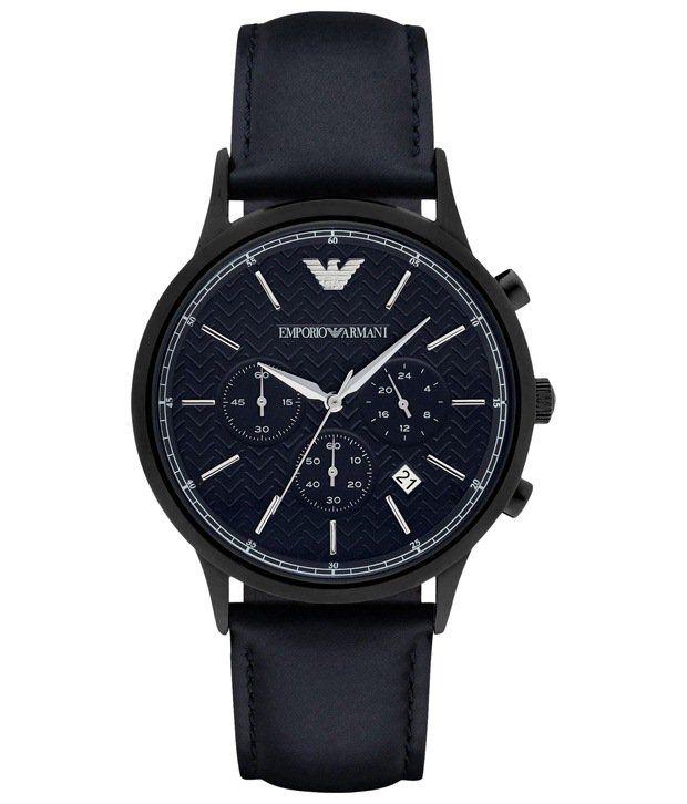 Emporio Armani Armani Blue Casual Analogue Wrist Watch For Men