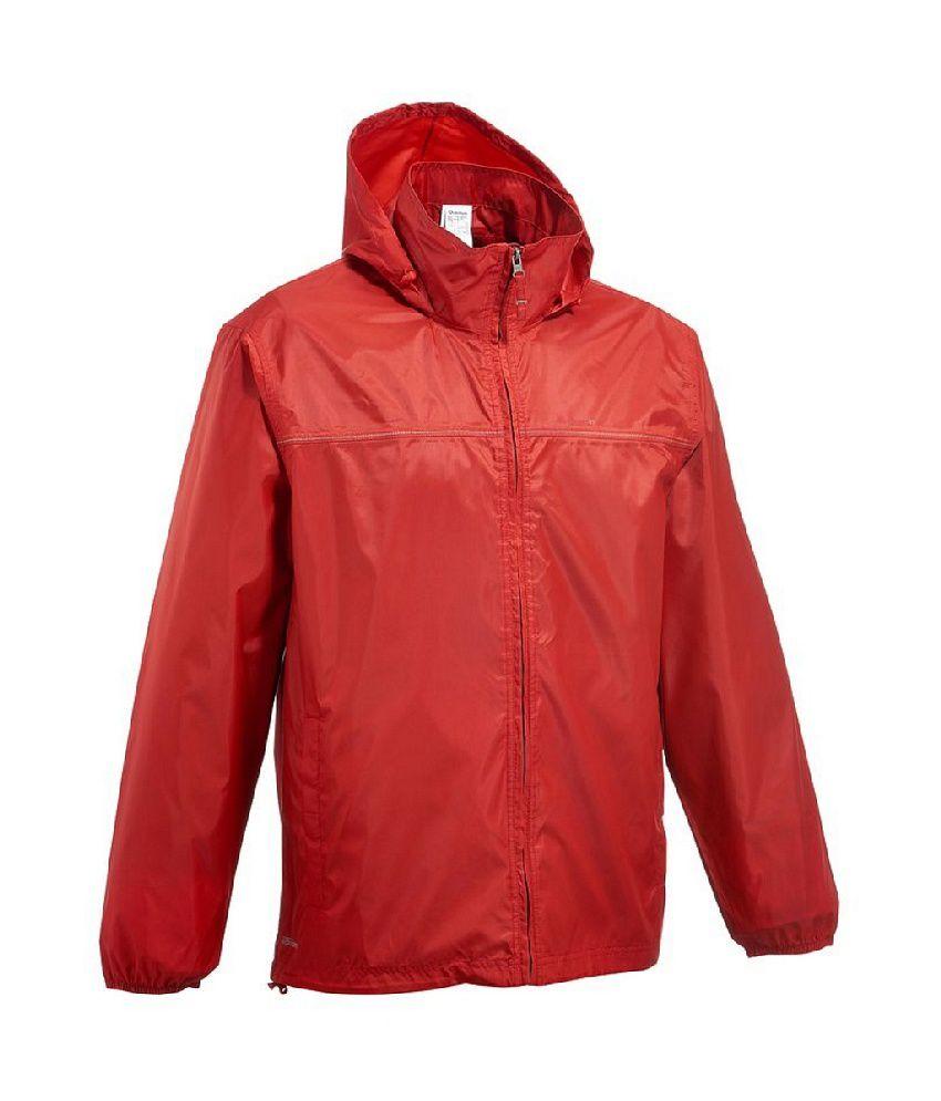 Quechua Rain-cut Zip Men Hiking Rain Jacket