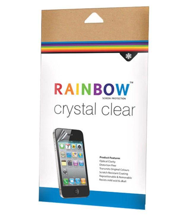 Rainbow Clear Screen Guard For Lava Iris Atom X2