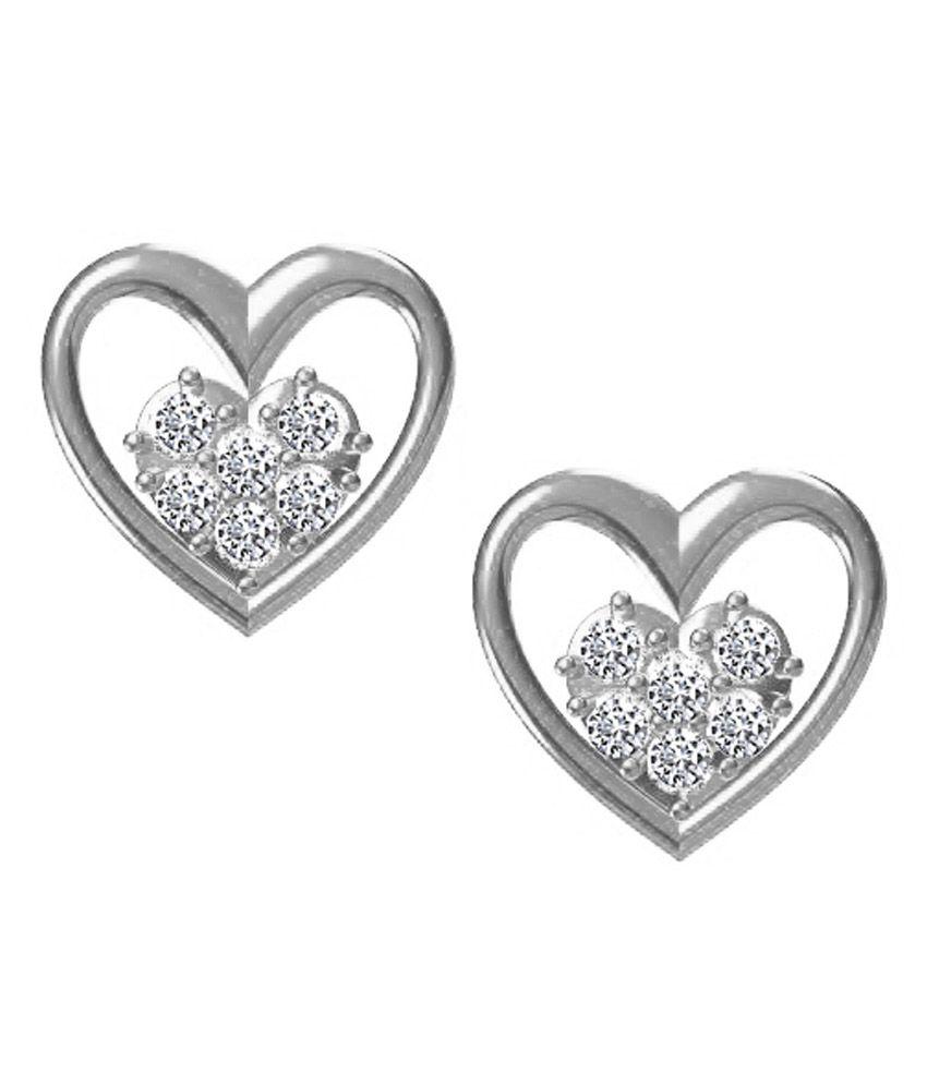 Twisha Silver Stud Earrings