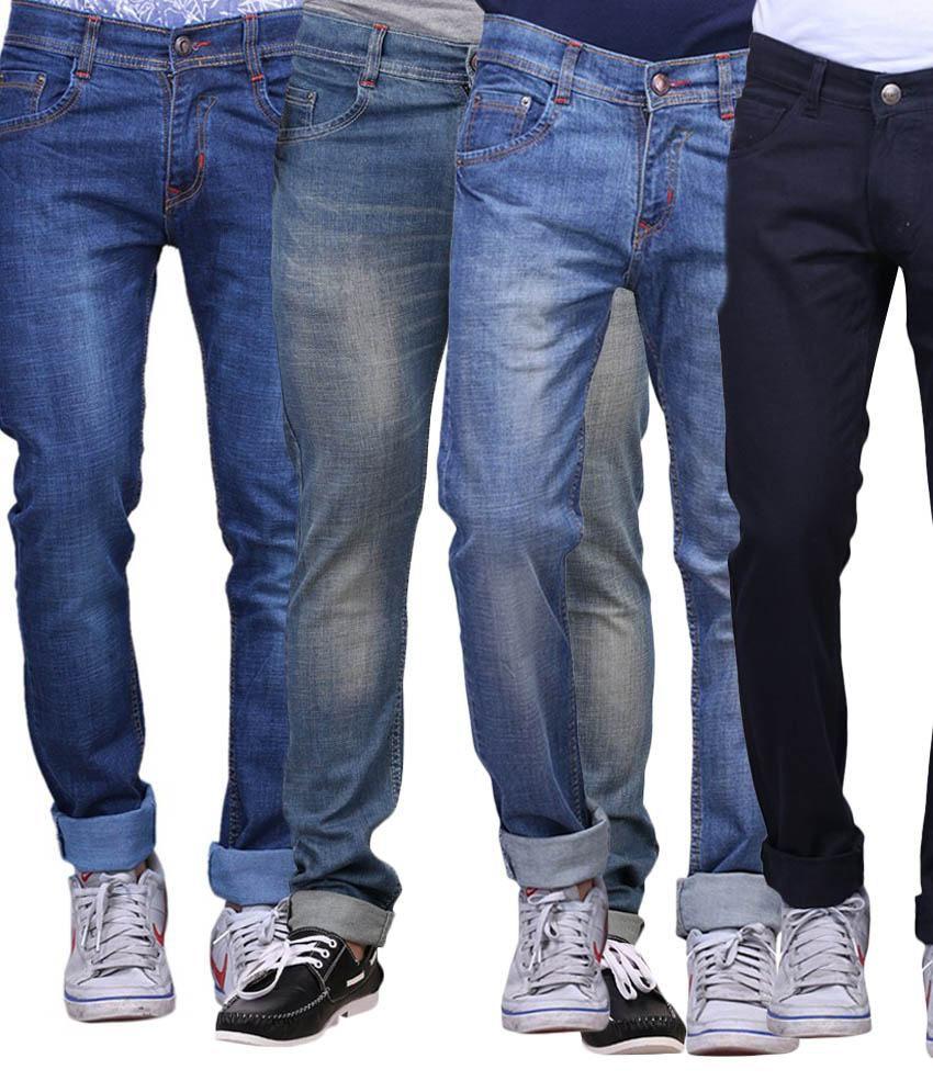 X-cross Multicolour Slim Fit Jeans Set Of 4