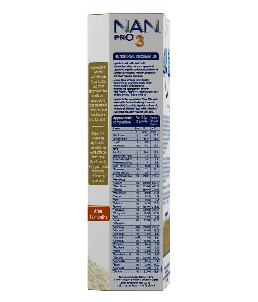 Nestle Nan Stage 3 Infant Formula | 400 gm: Buy Nestle Nan ...