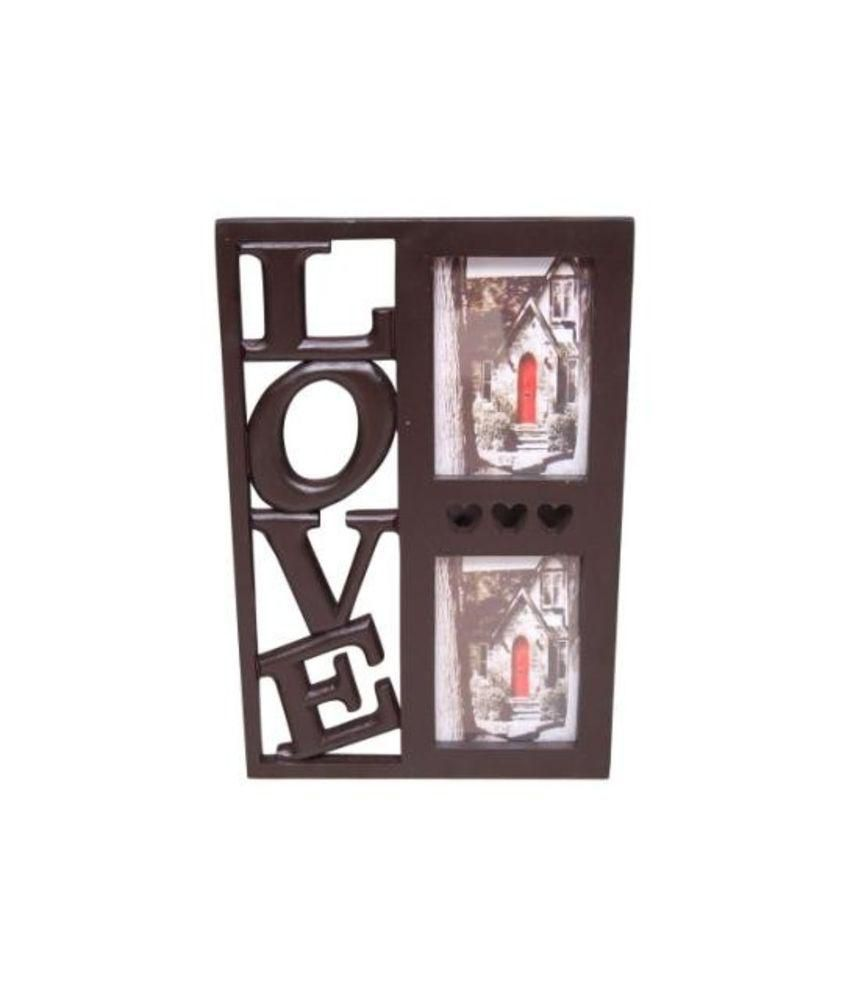 Onlineshoppee Wood Table Top & Wall hanging Black Collage Photo Frame - Pack of 1