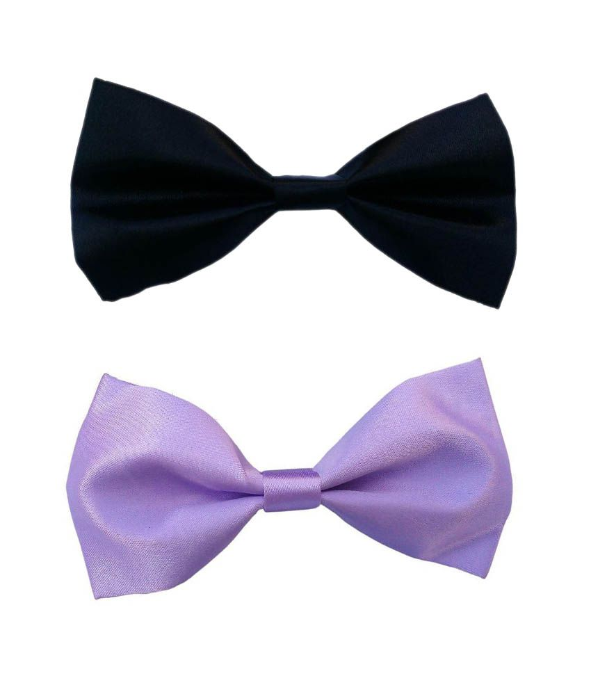 Wholesome Deal Pink And Black Neck Bow Tie - Pack of 2