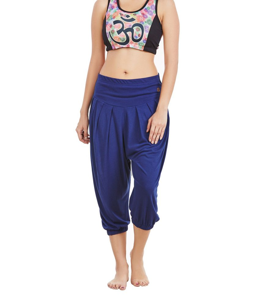 Foreveryoga Blue Regular Harem Workout Capri - Blue