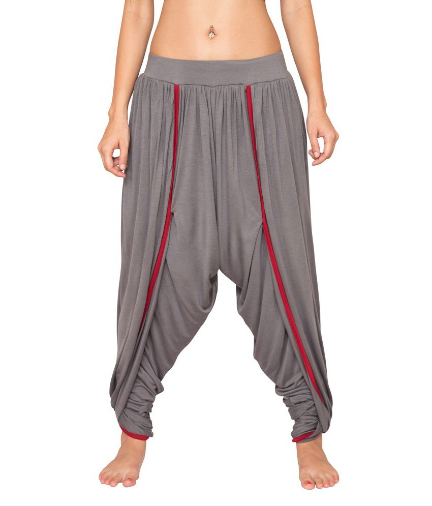Foreveryoga Steel Grey Unisex Knitted Dhoti - Grey