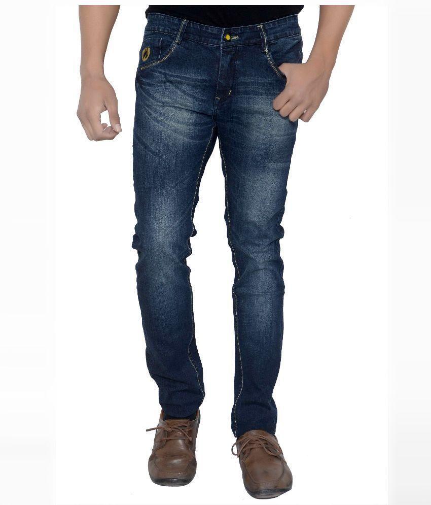 Natron Blue Slim Fit Jeans