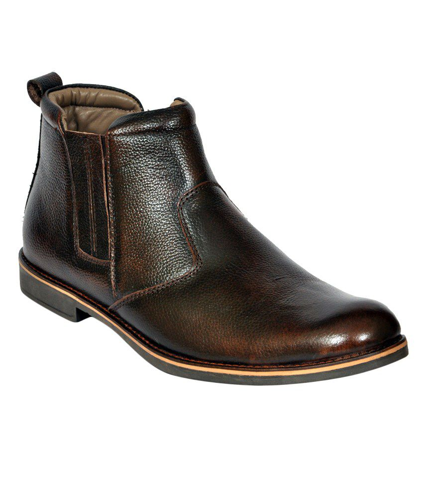 Black Casual Brown Boots