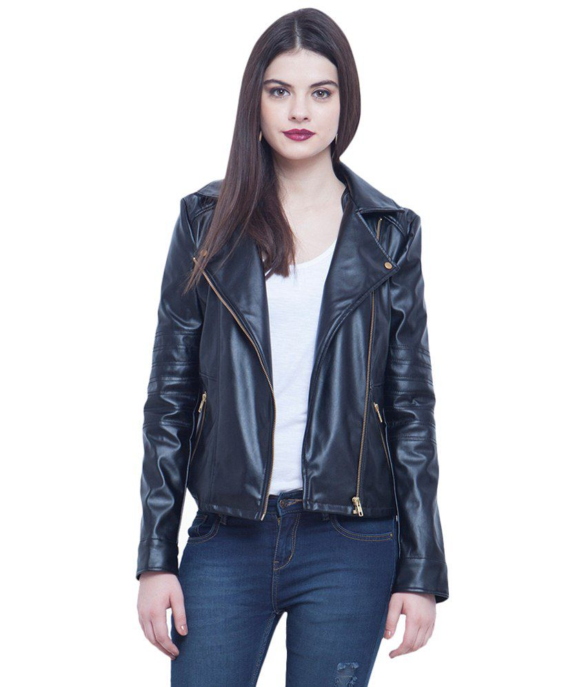 b1f1ec396c2 Buy Faballey Black Leather Jackets Online at Best Prices in India - Snapdeal
