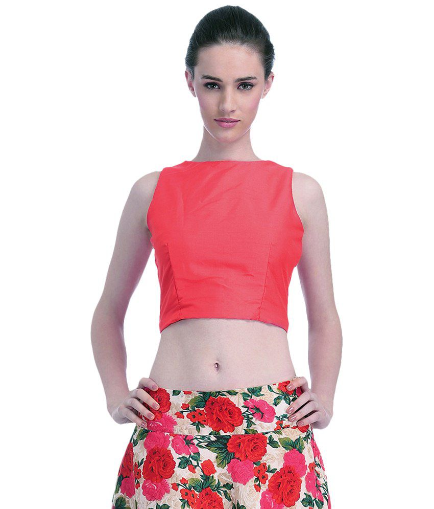 95d5106a38 Faballey Pink Silk Crop Top - Buy Faballey Pink Silk Crop Top Online at Best  Prices in India on Snapdeal