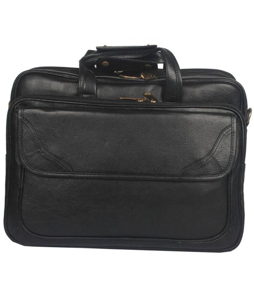 Bag Jack Achernar Black Leather Office Messenger Bag