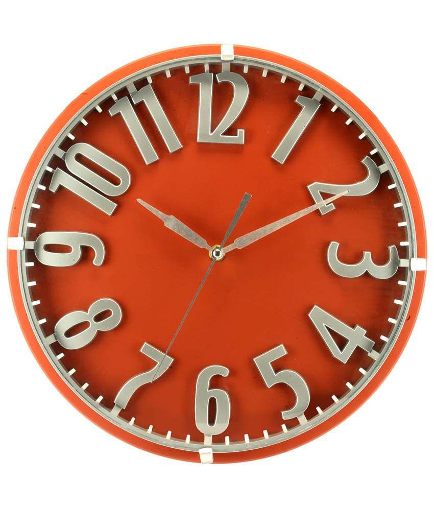Basement Bazaar Alluring Red Wall Clock 15 Inches