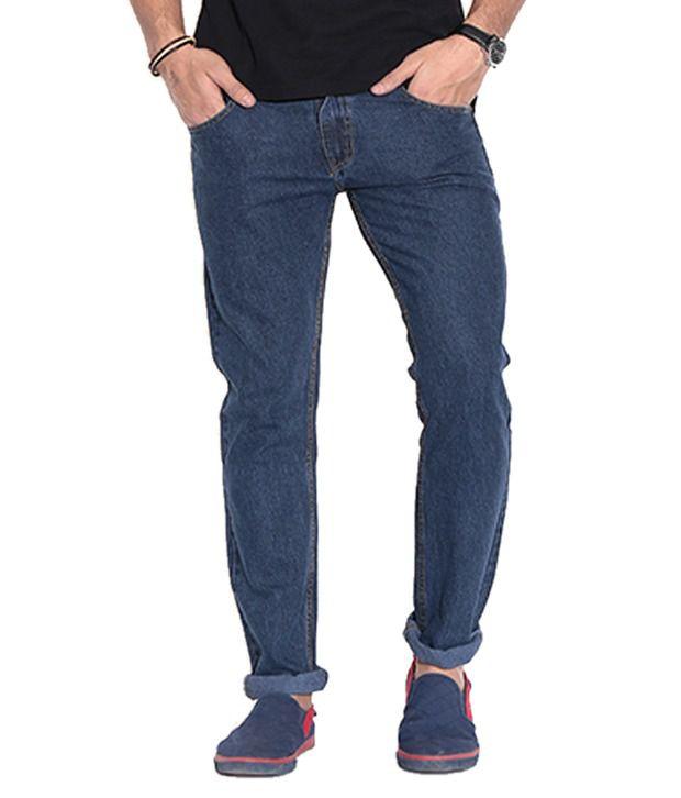 Fizzaro Blue Regular Fit Jeans