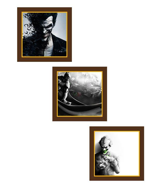 Go Hooked Joker Art Paintings - Set Of 3