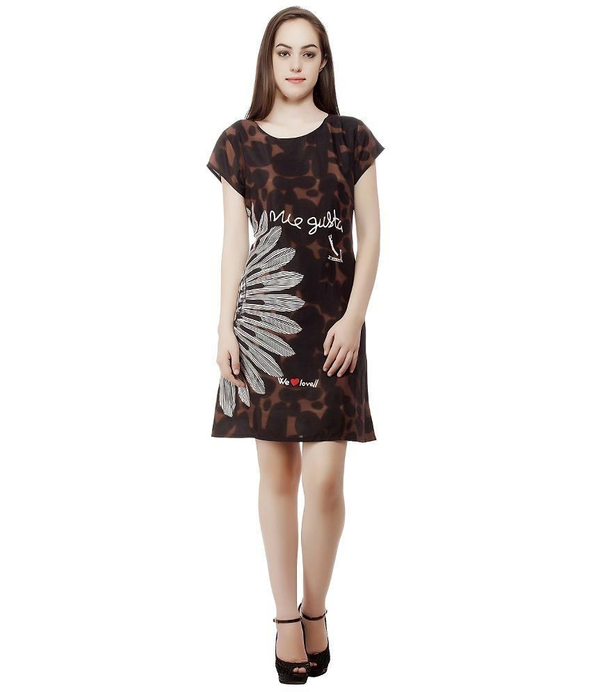 7fab57882549 Mansi Collection Brown Cotton Dresses - Buy Mansi Collection Brown Cotton  Dresses Online at Best Prices in India on Snapdeal