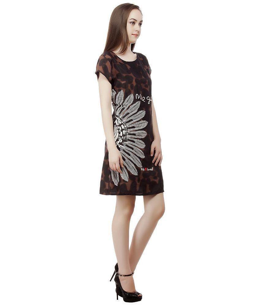 175a5d031fff Mansi Collection Brown Cotton Dresses Mansi Collection Brown Cotton Dresses  ...