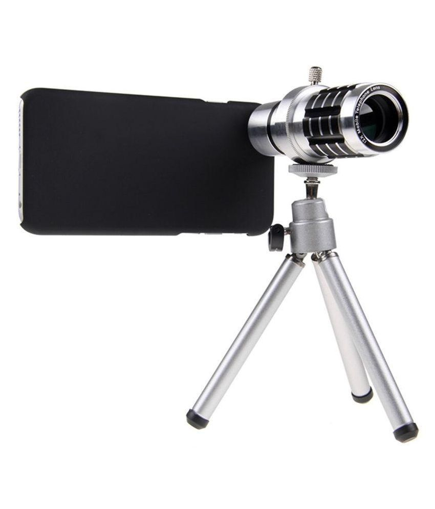 Mobilegear 12X Optical Zoom Telescope Mobile Camera Lens Kit with Back Cover & Tripod for Apple iPhone 6 Plus