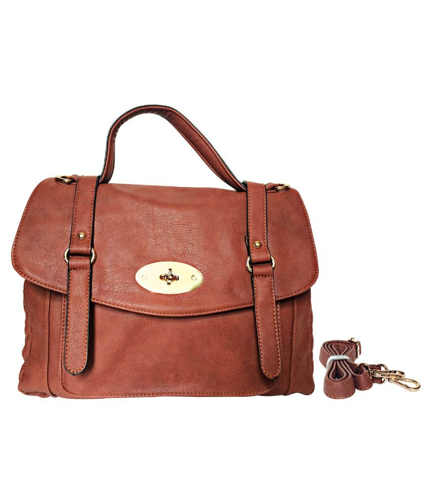 Parv Collections Brown Non Leather Satchel Bag
