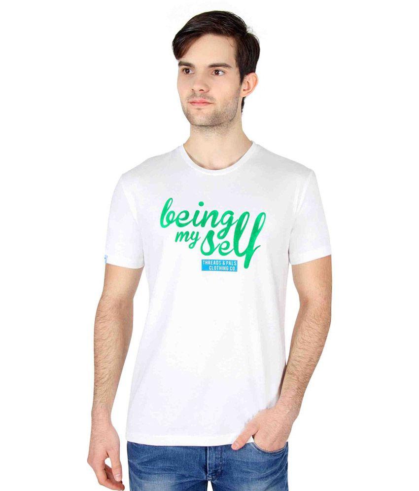 Threads & Pals White Cotton T-shirt