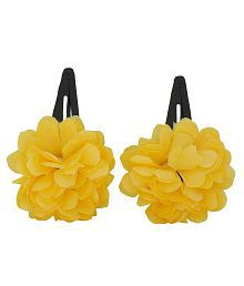 Maayra Yellow Party Tic Tac Clips - Pack Of 2