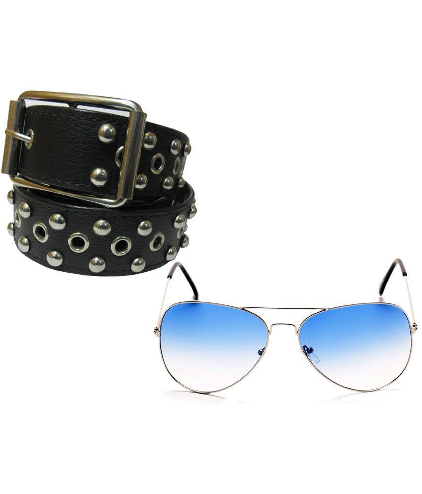 Apki Needs Black Combo Of Belt & Sunglasses