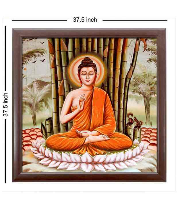 Elegant Arts And Frames Textured Budha Painting