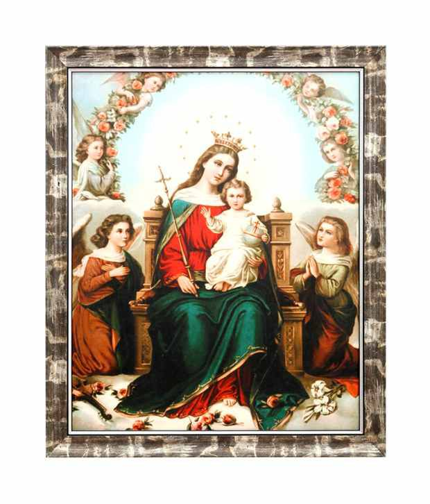 Elegant Arts And Frames Textured The Hail Mary Painting
